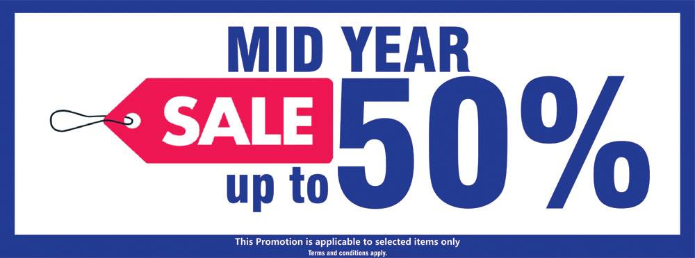 MID YEAR SALE UP TO 50%