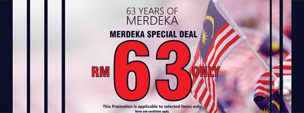 63 Years Of Merdeka Special Deal