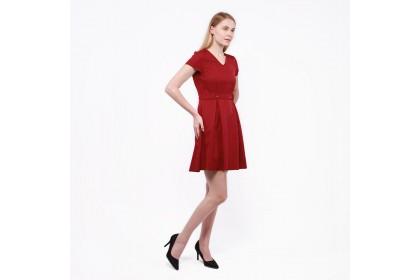 Nicole Exclusives- Pleat Detail Dress