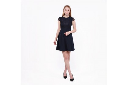 Nicole Exclusives- Cap Sleeves Midi Dress