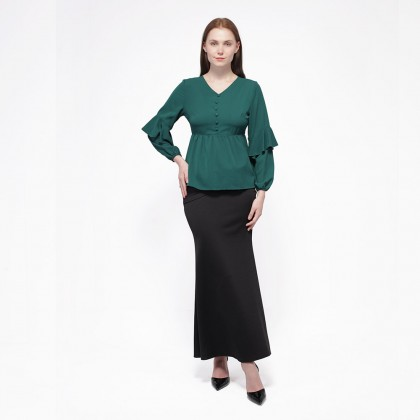 Nicole Exclusives Long Sleeve Blouse -Green