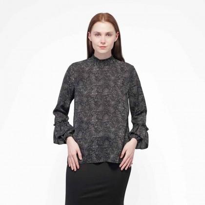 Nicole Exclusives Long Sleeve Blouse-Black