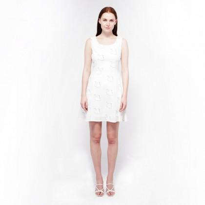 Ne Double S- Round Neckline Printed Dress
