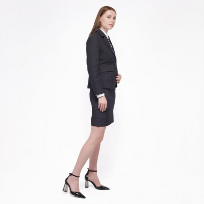 Nicole Exclusives - Classic Blazer-Dark Grey