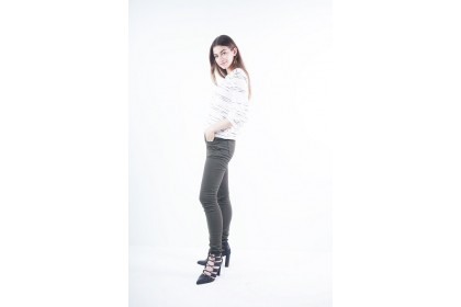 Nicole Casual Wear Skinny Pants - Army Green