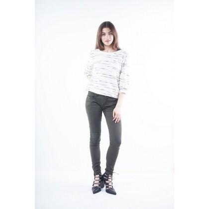 Nicole Casual Wear Skinny Pants - Army Green