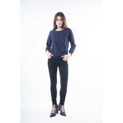 Nicole Casual Wear Skinny Pants - Black