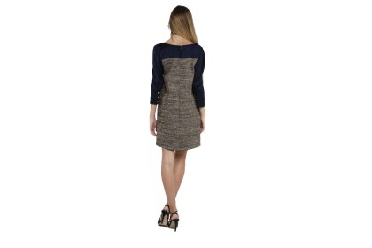 Nicole Exclusives A Line Dress With Button Cuff Sleeve