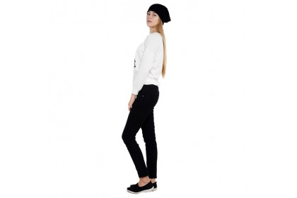 Black Casual Skinny Fit Pants