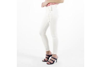 NE Double S Cotton Twill White Skinny Pant