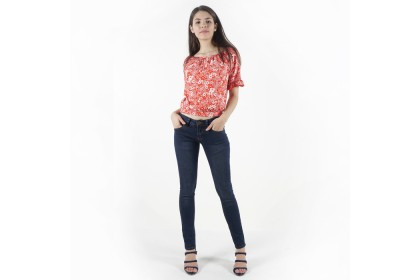 Nicole Denim Dark Blue Skinny Jeans