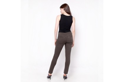 Nicole Cotton Twill Straight Pant Army Green