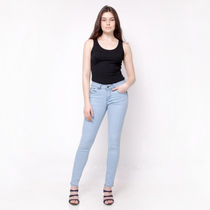 Nicole Denim Slim Jeans Light Blue