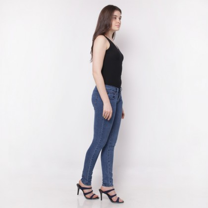 Nicole Denim Slim Jeans Dark Blue