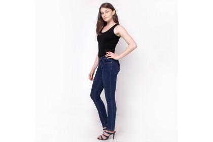 Nicole Denim Straight Jeans Blue
