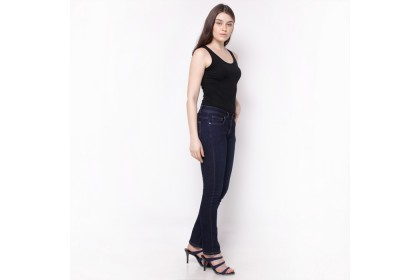 Nicole Denim Straight Jeans Dark Blue