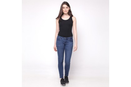 Eighteen Plus Denim Blue Skinny Fit Tapered Jeans