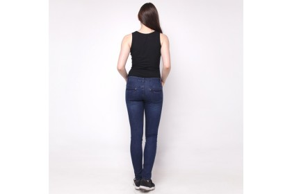 Eighteen Plus Denim Dark Blue Skinny Fit Tapered Jeans