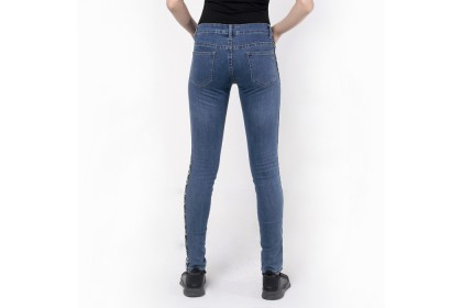 Skinny Jeans With Tape Trimming