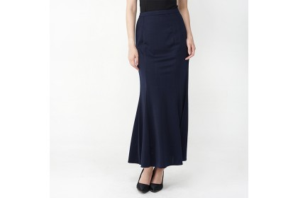 Navy Blue Romance  Long Mermaid Skirt
