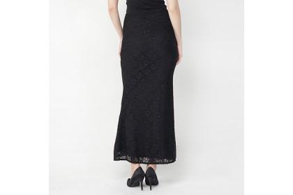 Black Lace Long Mermaid Skirt
