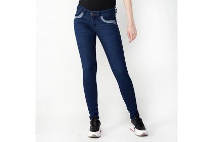 Dark Blue Skinny Fit Tapered Jeans
