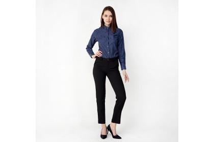 Black Basic Long Pants