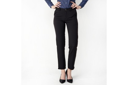 Black Basic Long Pants
