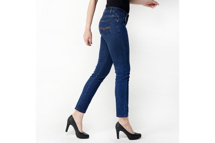 Straight Fit Blue Denim Jeans