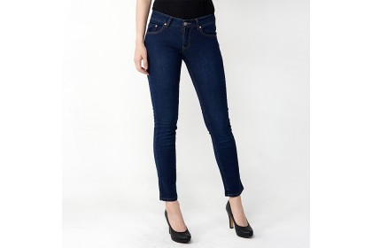 Straight Fit Dark Blue Jeans