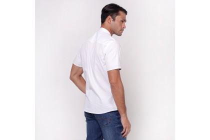 monsieur NICOLE Mandarin Collar Shirt - White