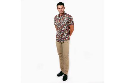 monsieur Floral Printed Short Shirt