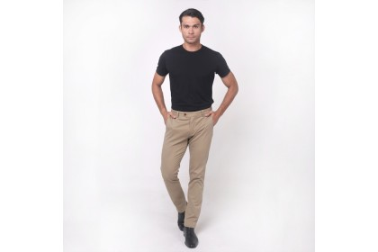 NIC Slim-Fit Pants-Khaki
