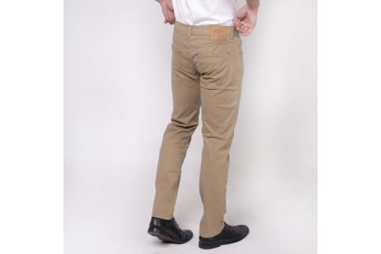 monsieur Casual Cotton Long Pant -Khaki