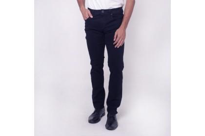 monsieur Casual Cotton Long Pants-Dark Navy