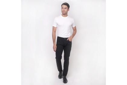 monsieur Casual Cotton Long Pants -Black