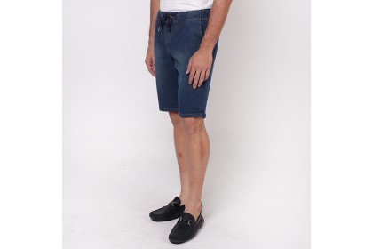 monsieur Mid Waist Short Pant - Blue