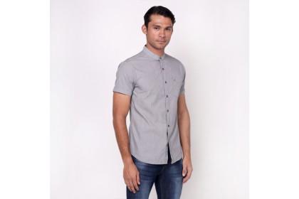 NIC by NICOLE Black Collar Short Sleeves Shirt