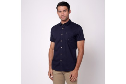 NIC by NICOLE Navy Short Sleeves Shirt