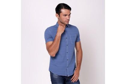 NIC by Nicole Blue Short Sleeves Shirt
