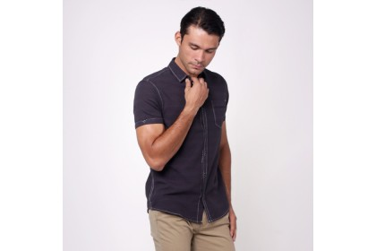 NIC by NICOLE Dark Grey Short Sleeves Shirt