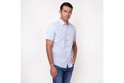 monsieur NICOLE Light Blue Short Sleeves Shirt
