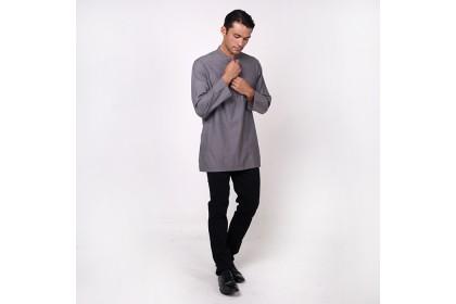 monsieur NICOLE Grey Baju Melayu