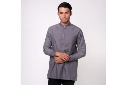 monsieur NICOLE Dark Grey Baju Melayu