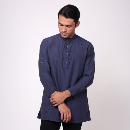 monsieur NICOLE Blue Color Baju Melayu