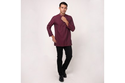 monsieur NICOLE Maroon Color Baju Melayu
