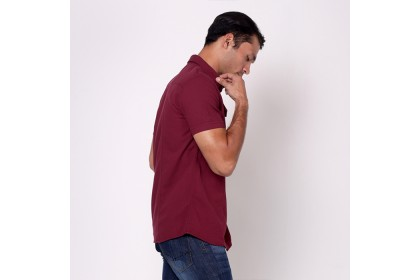 NIC by NICOLE Maroon Dobby Woven Shirt