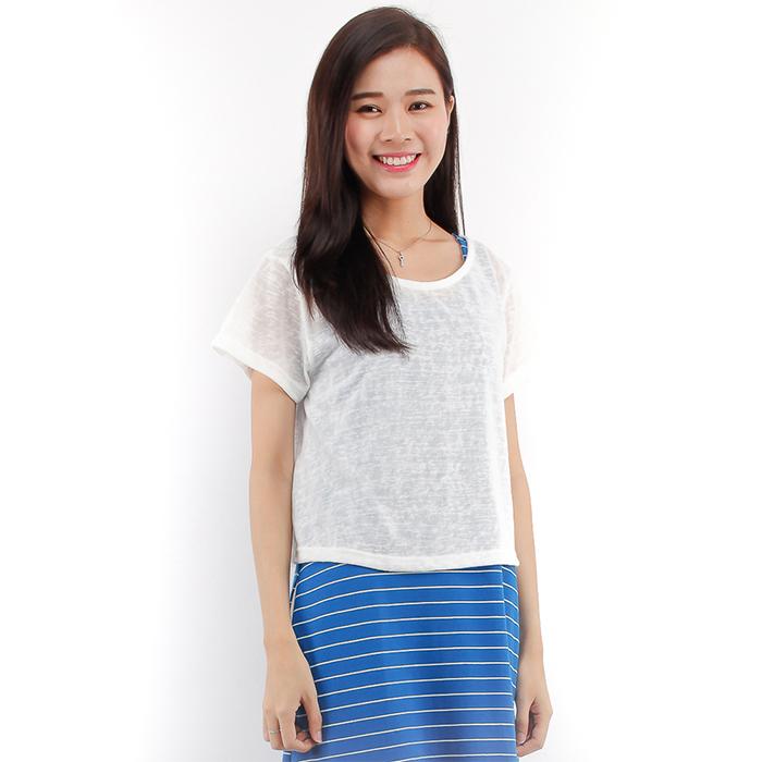 36105bba51b209 Eighteen Plus Women Knitted Short Sleeve Crop Top