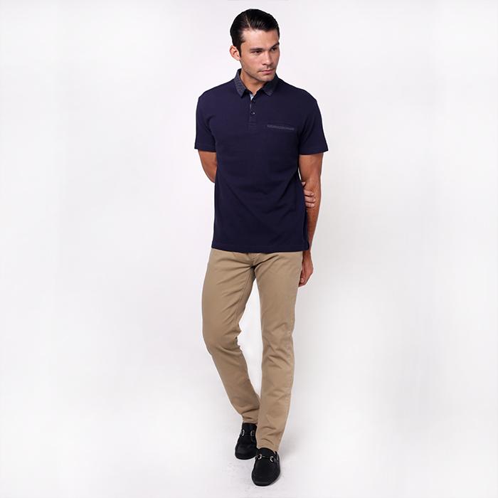 monsieur NICOLE Short Sleeve - Navy