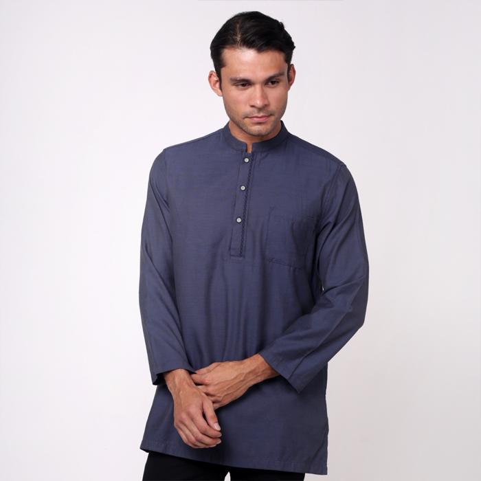 monsieur NICOLE Navy Blue Baju Melayu